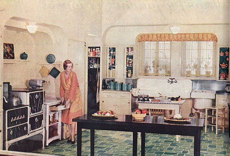 1930 kitchen design. 1930\u0027s And 1940\u0027s: Technology, Ergonomics War Open Up The Kitchen 1930 Design S