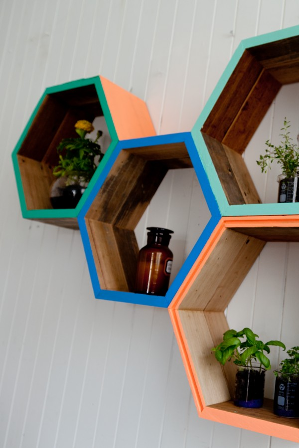 The Interiors Addict - Geometric Shelving