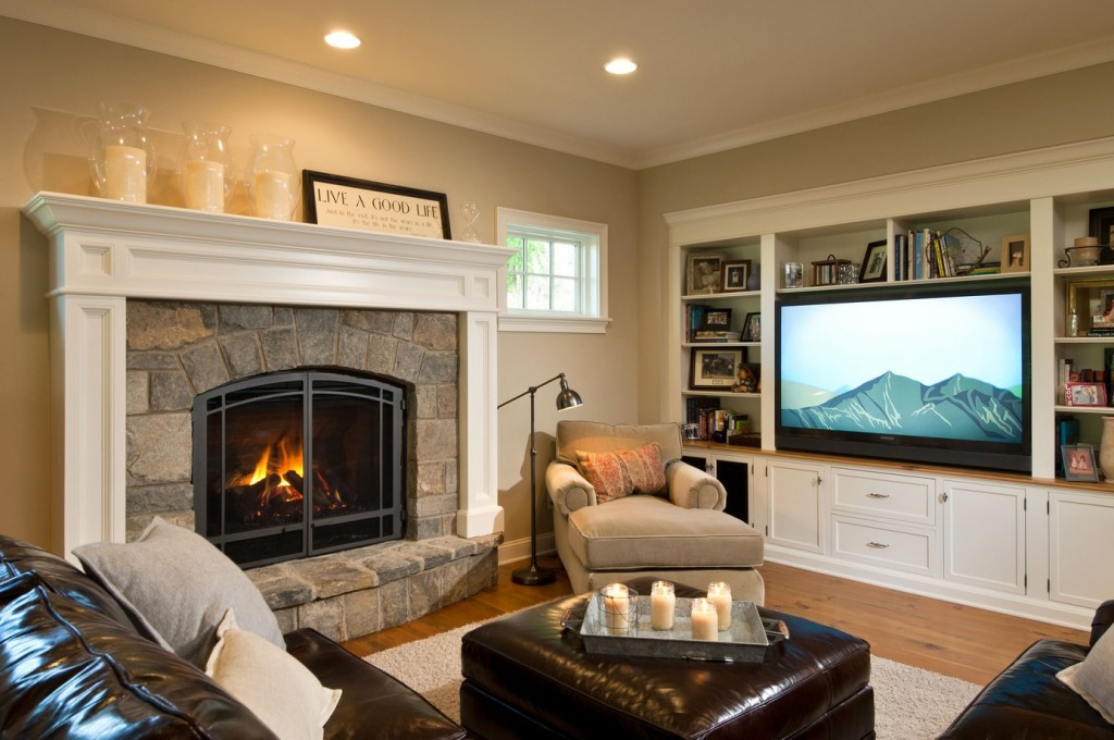 Is your tv room ready for prime time porch advice for Family room furniture layout tv fireplace