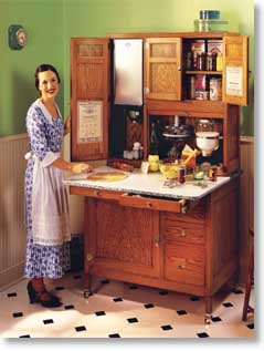 A Hoosier Cabinet From The Early 1900 S Created More Efficient Kitchen Design With It Built In Features Extra Storage And Additional Worke