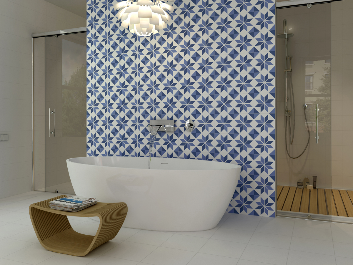 10 Gorgeous Ways to Do Patterned Tile in the Bathroom - Porch Advice
