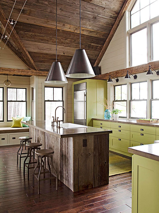better homes and gardens colorful kitchen cabinets - Homes And Gardens Kitchens