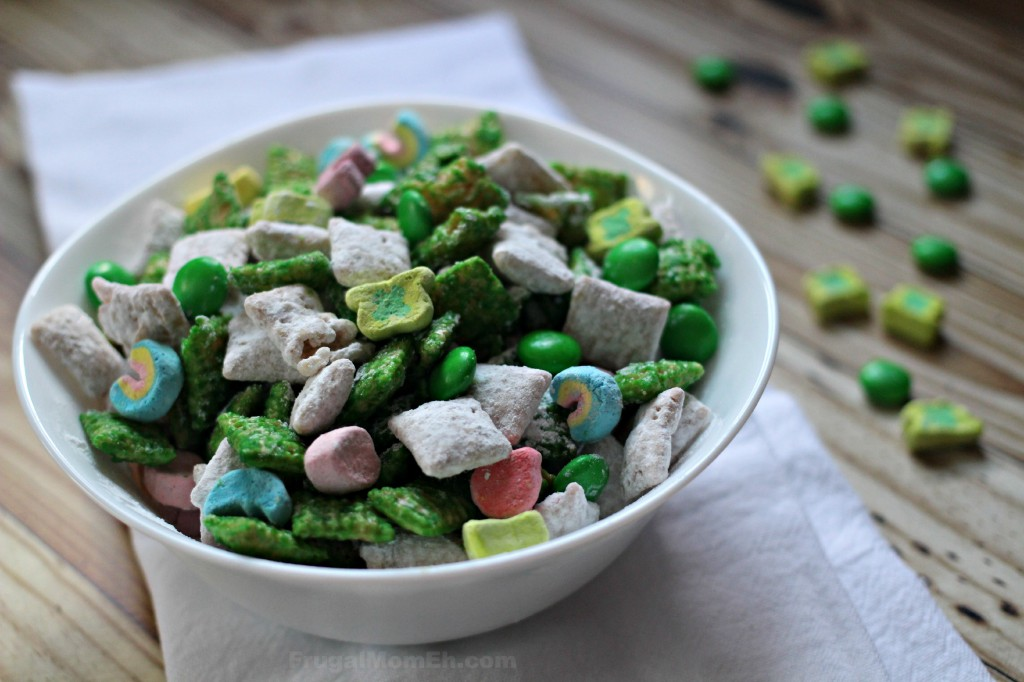 Frugal Mom Eh! St. Patrick's Day green muddy buddies treat