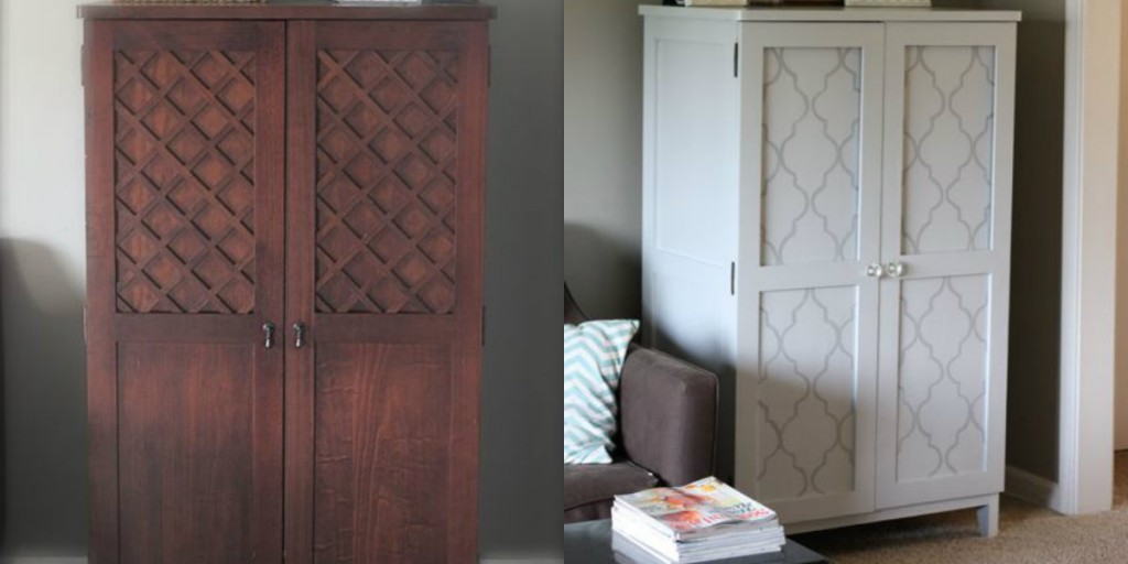 Good Girl Gone Glad DIY armoire makeover stencil
