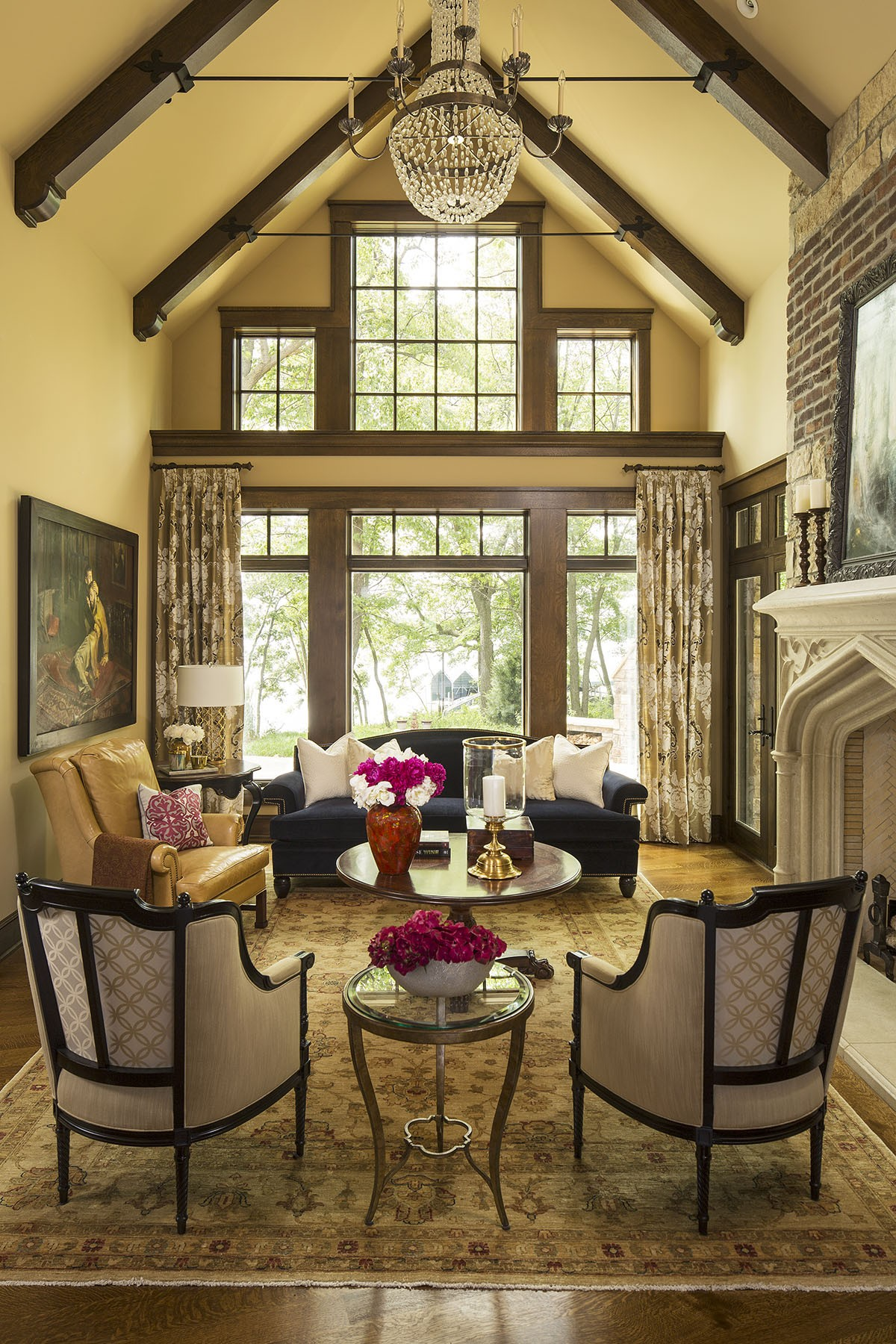 5 beautiful ways to do exposed ceiling beams porch advice for Vaulted ceiling with exposed beams