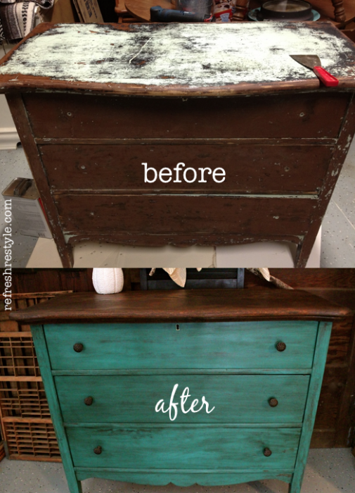 15 Painted Furniture Makeovers Youll Love Porch Advice
