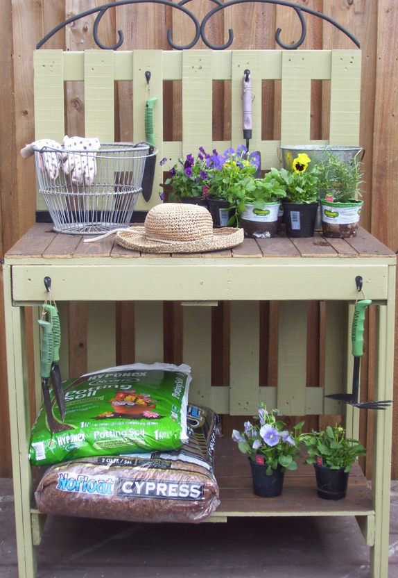 Rustic Rediscovered - potting table