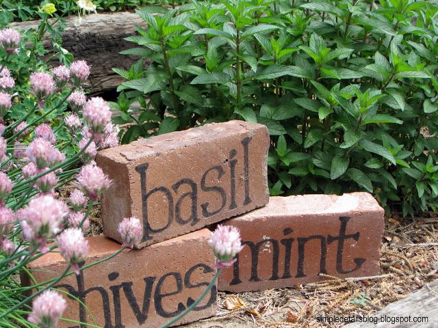 Simple Details - garden markers
