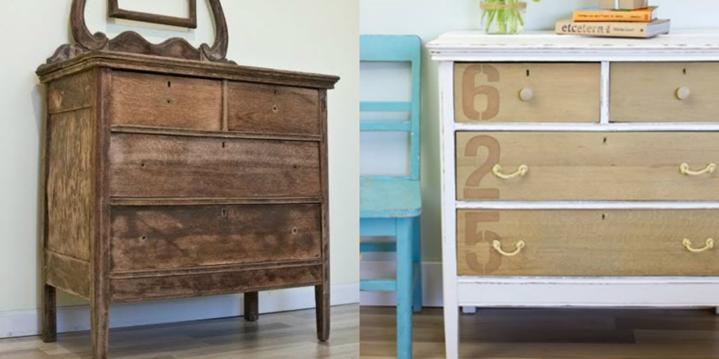 The Lettered Cottage painted stencil dresser makeover
