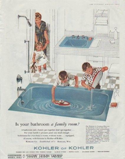 1961 kohler bathroom ad