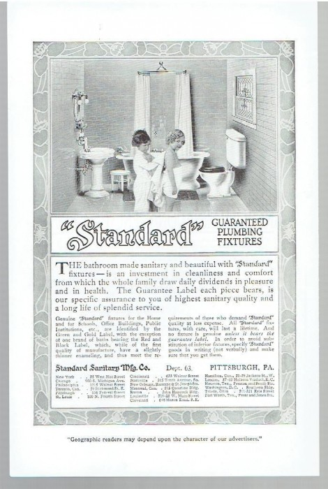 sanitary plumbing 1913 bathrooms