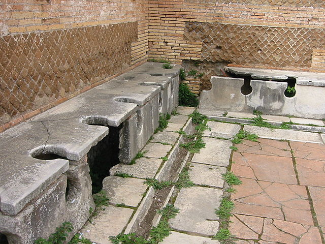 Ostia Antica Roman toilets