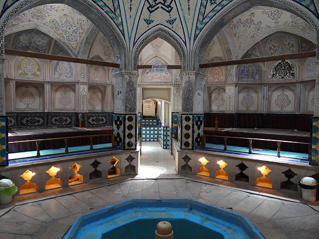 "This Iranian public bathhouse, located in Kashan, Iran, was constructed in the 16th century. ""Sultan Amir Ahmad Bathhouse 2"" by Adam Jones - . Licensed under CC BY-SA 2.0 via Wikimedia Commons."