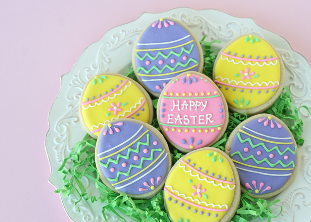Auntie Bea's Bakery decorated Easter egg cookies