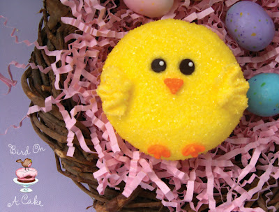 Bird On A Cake Easter chick cupcake