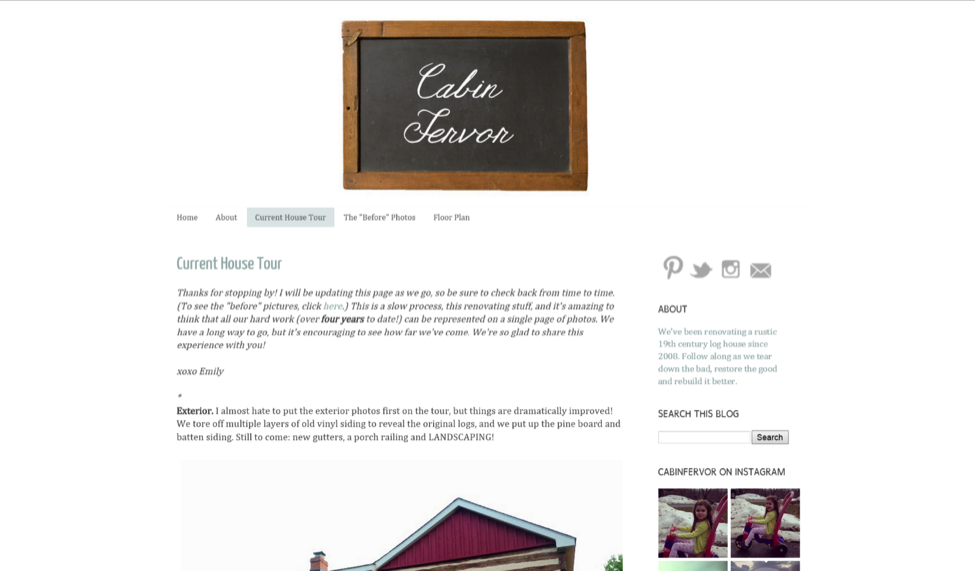 Blogs for Old House Lovers - Cabin Fervor