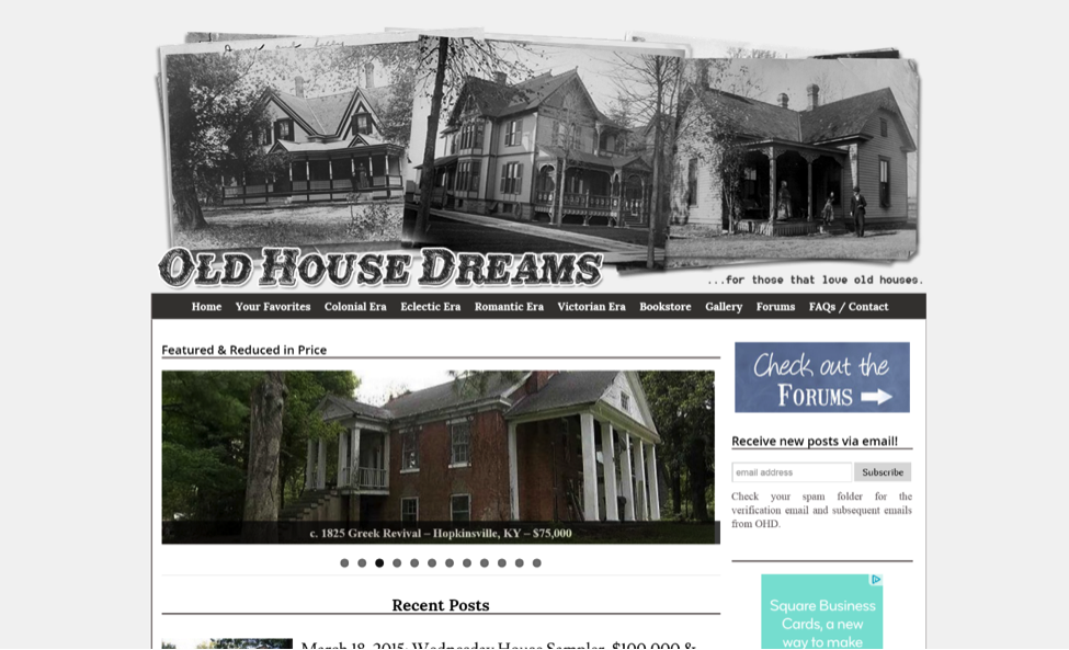 Blogs for Old House Lovers - Old House Dreams