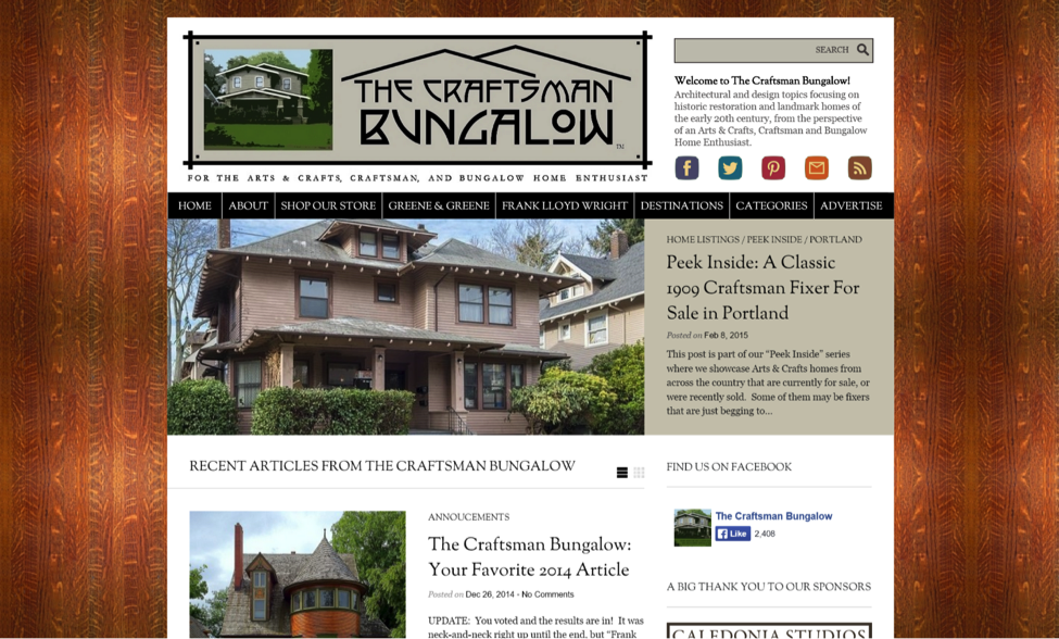 Blogs for Old House Lovers - The Craftsman Bungalow