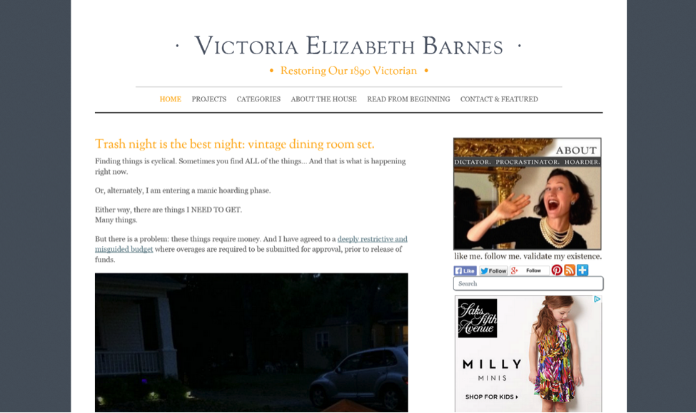 Blogs for Old House Lovers - Victoria Elizabeth Barnes