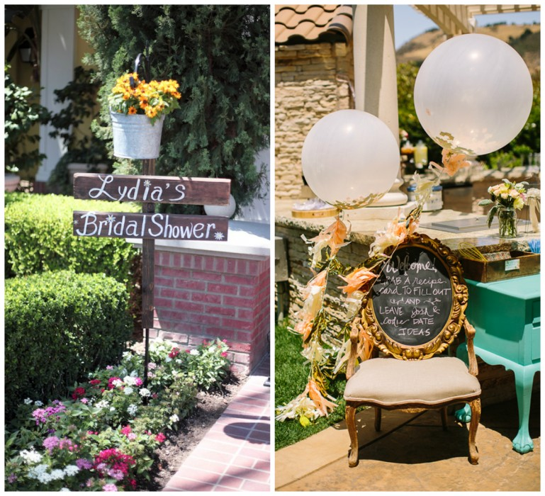 Outdoor Bridal Shower Ideas Part - 38: Bridal Shower Entrance. The Yes Girls U0026 Michaela Noelle Designs