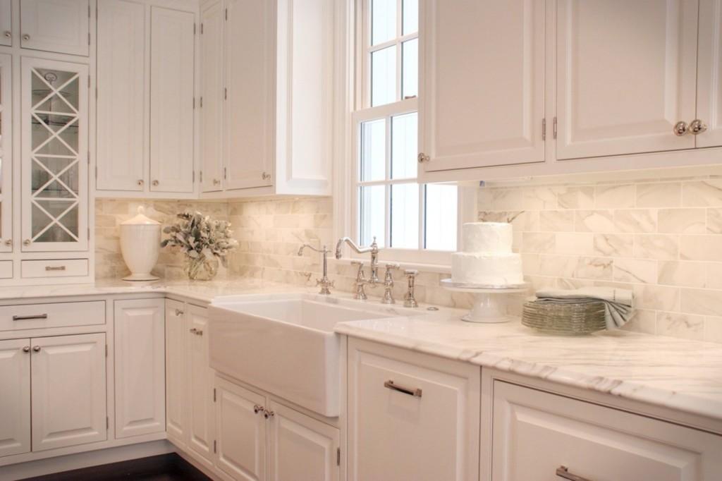 Design Your Kitchen For Baking Extraordinary Tile Backsplash Ideas For White Cabinets Set