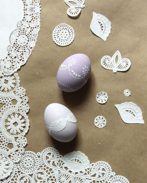 Urban Comfort - doily stenceil eggs