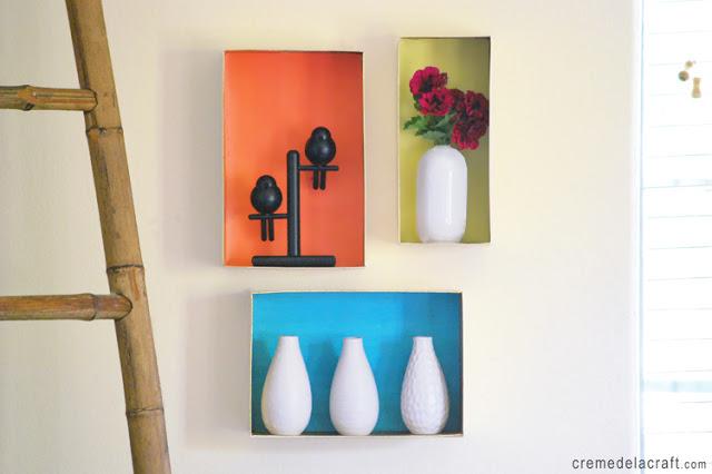 Creme de la Craft DIY wall shelves