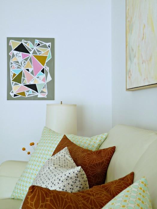 Dans le Lakehouse DIY geometric wall art