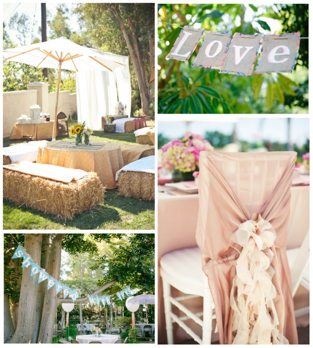 Inspired By This, Lindsey Brooke & Pictilio via Hostess With The Mostess backyard bridal shower decorations