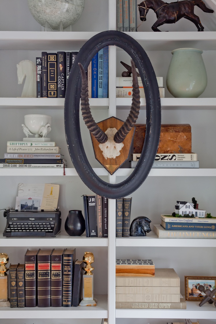 Emily Henderson - bookcase styling