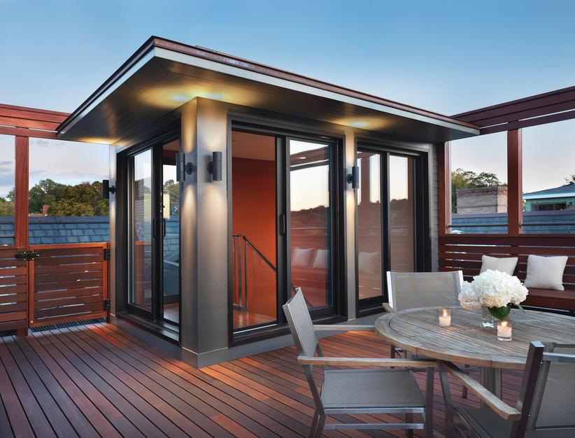 An impressive rooftop deck addition porch advice for Roof deck design