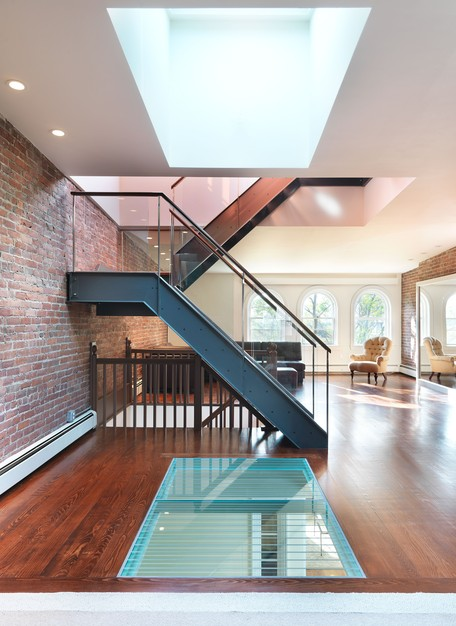 Charmant Flavin Architects Rooftop Deck Addition Glass Staircase