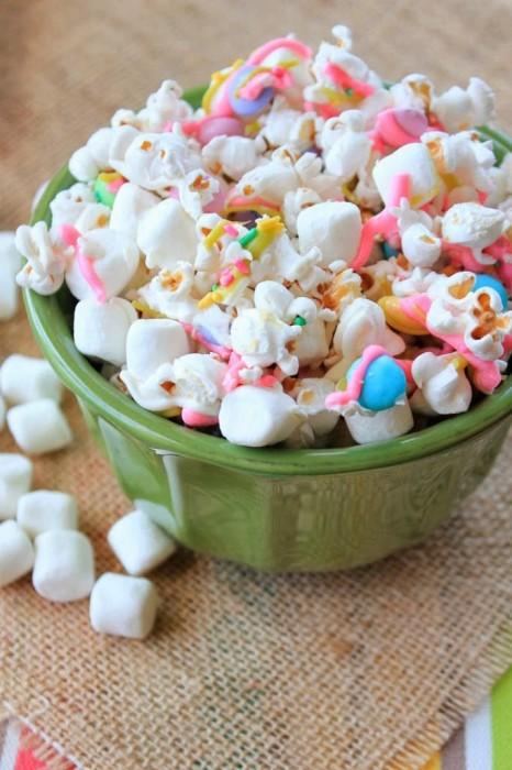 Framed Frosting Easter bunny tails popcorn mix