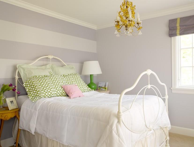 Graciela Rutkowski Interiors Glacier Gray painted bedroom color