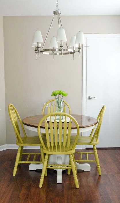 Happiness Is Creating kitchen table makeover with chalk paint