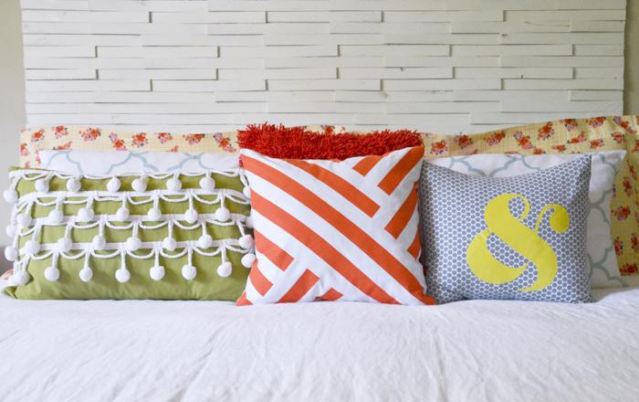 Hearts & Sharts DIY graphic painted pillow
