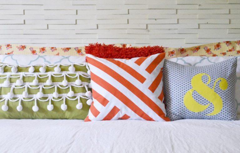 9 diy decorative pillow ideas - porch advice Diy Pillow Design Ideas
