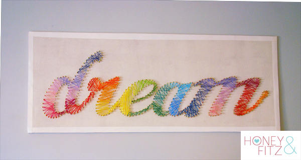 Honey & Fitz DIY string art wall art