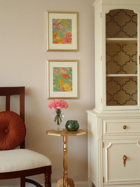 Honey Sweet Home DIY framed scarf wall art
