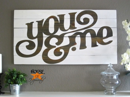 House of Hepworths DIY wood board wall art
