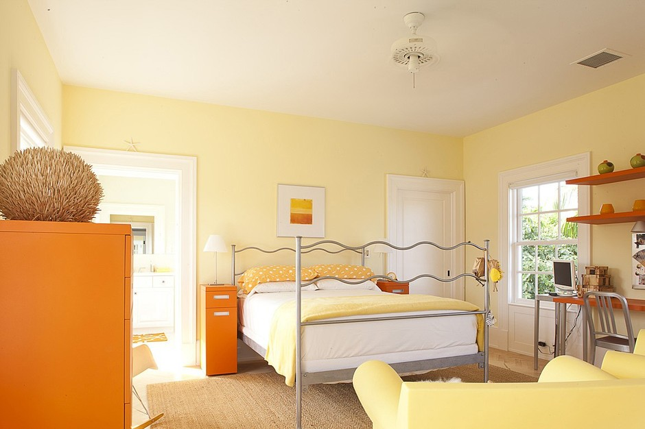 Nice Yellow Interior Paint Ideas Part - 14: ... Yellow Painted Bedroom Color · Jorge Rosso Architecture Interiors