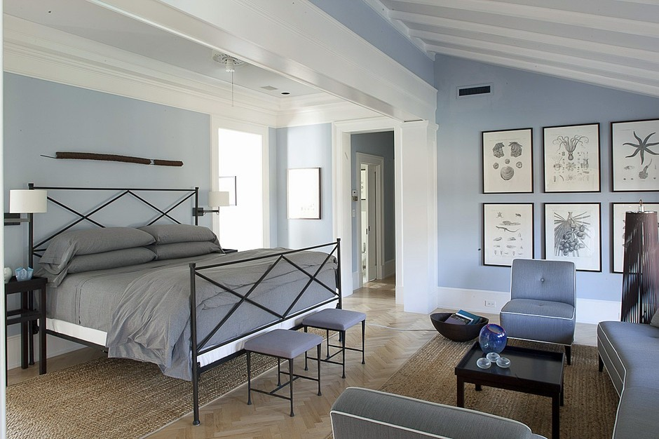 Jorge Rosso Architecture Interiors blue painted bedroom