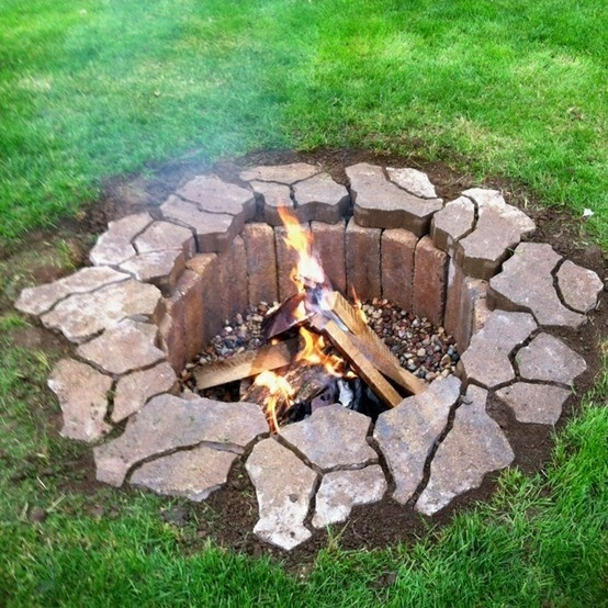 Backyard Fire Pit Diy : Laura Catherine  firepit