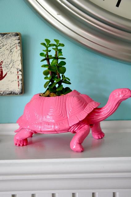 Little Bit Funky DIY dinosaur pink planter