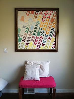 Love Hue Home DIY chevron wall art