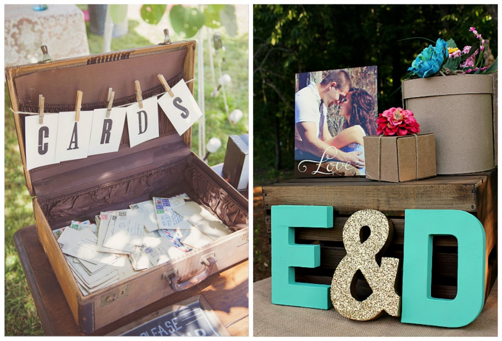 Maria Mack via Wedding Chicks & Uncommon Designs bridal shower gift table