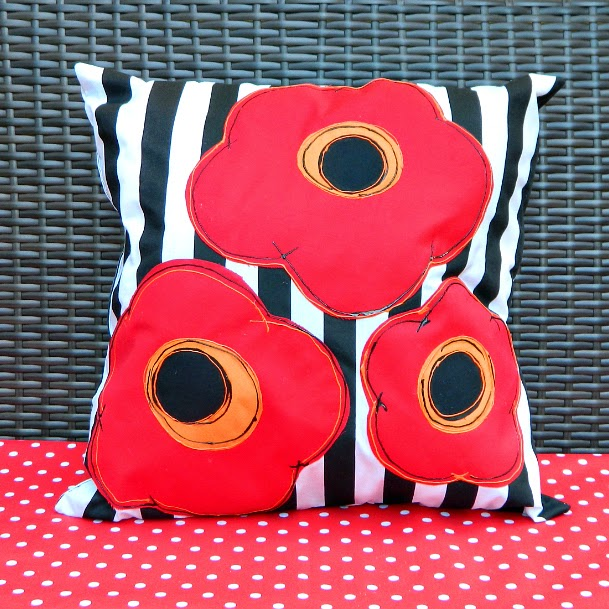 Mark Montano DIY graphic poppy pillows