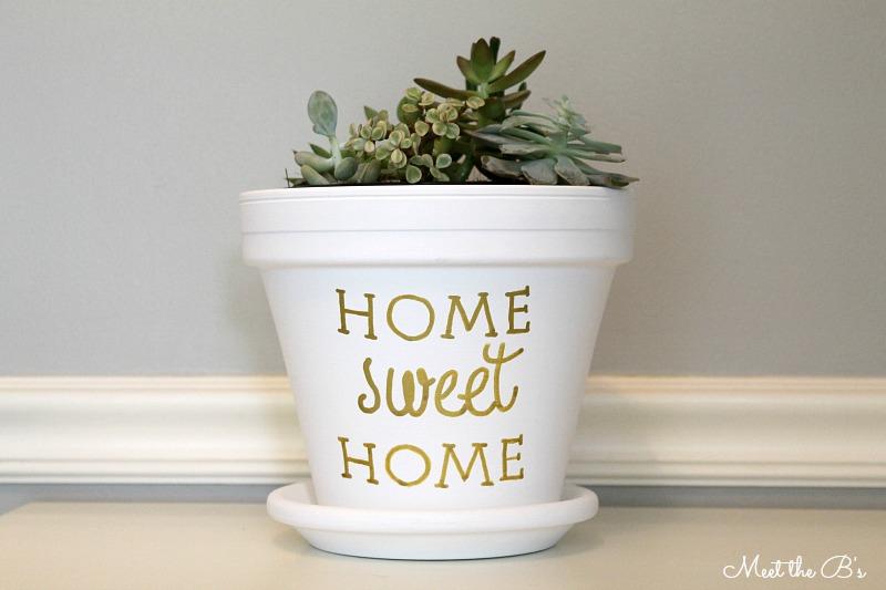 Meet The B's DIY housewarming succulent planter gift