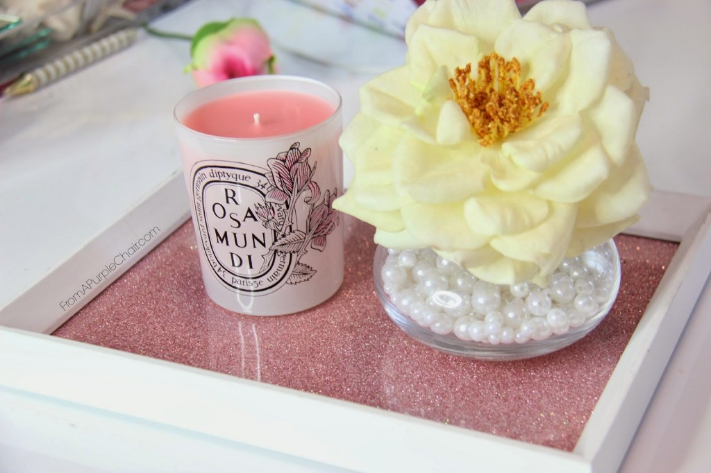 Miss Liz candle coffee table decoration