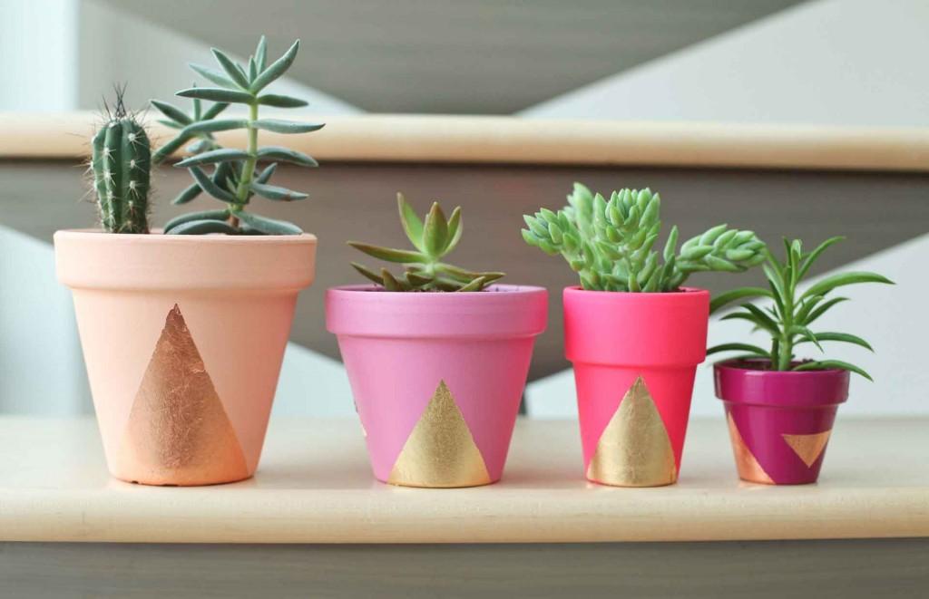 Miss Renaissance gold gilded DIY succulent plant pot